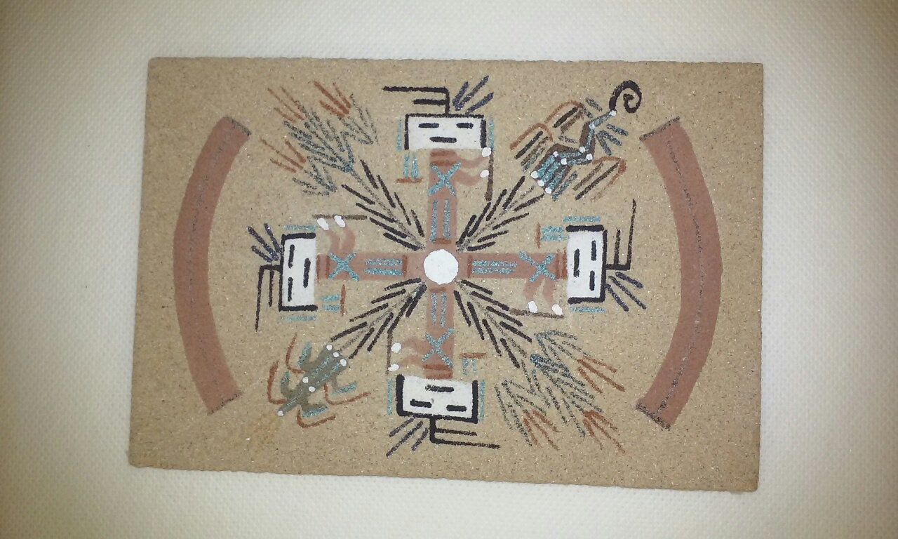 Navajo indian sand paintings unframed sand painting art gallery navajo whirling yei sand painting biocorpaavc Images