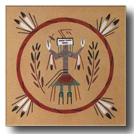 Navajo indian sand paintings unframed sand painting art gallery navajo yei sand painting freerunsca Images