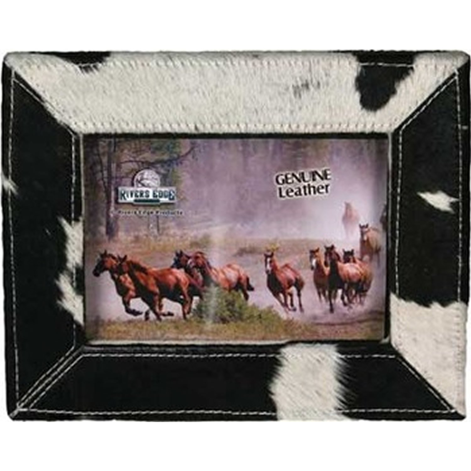 4X6 Saddle Stitched Bonded Leather Picture Frame