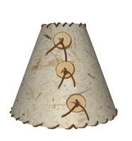Small Leather Lamp Shade Shown In Banana Natural Color choice